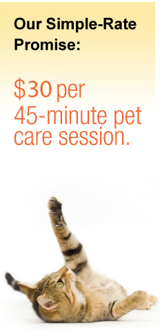 Pet Sitting Our Simple Rate Promise